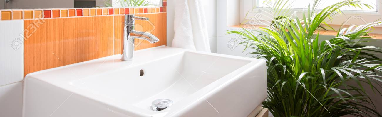 Close-up Of Washbasin In Beauty Color Toilet Stock Photo, Picture ...