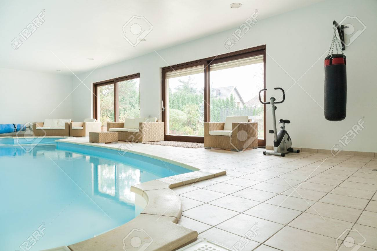 Big Gym With Swimming Pool At Luxury Home Stock Photo Picture And Royalty Free Image Image 37790881