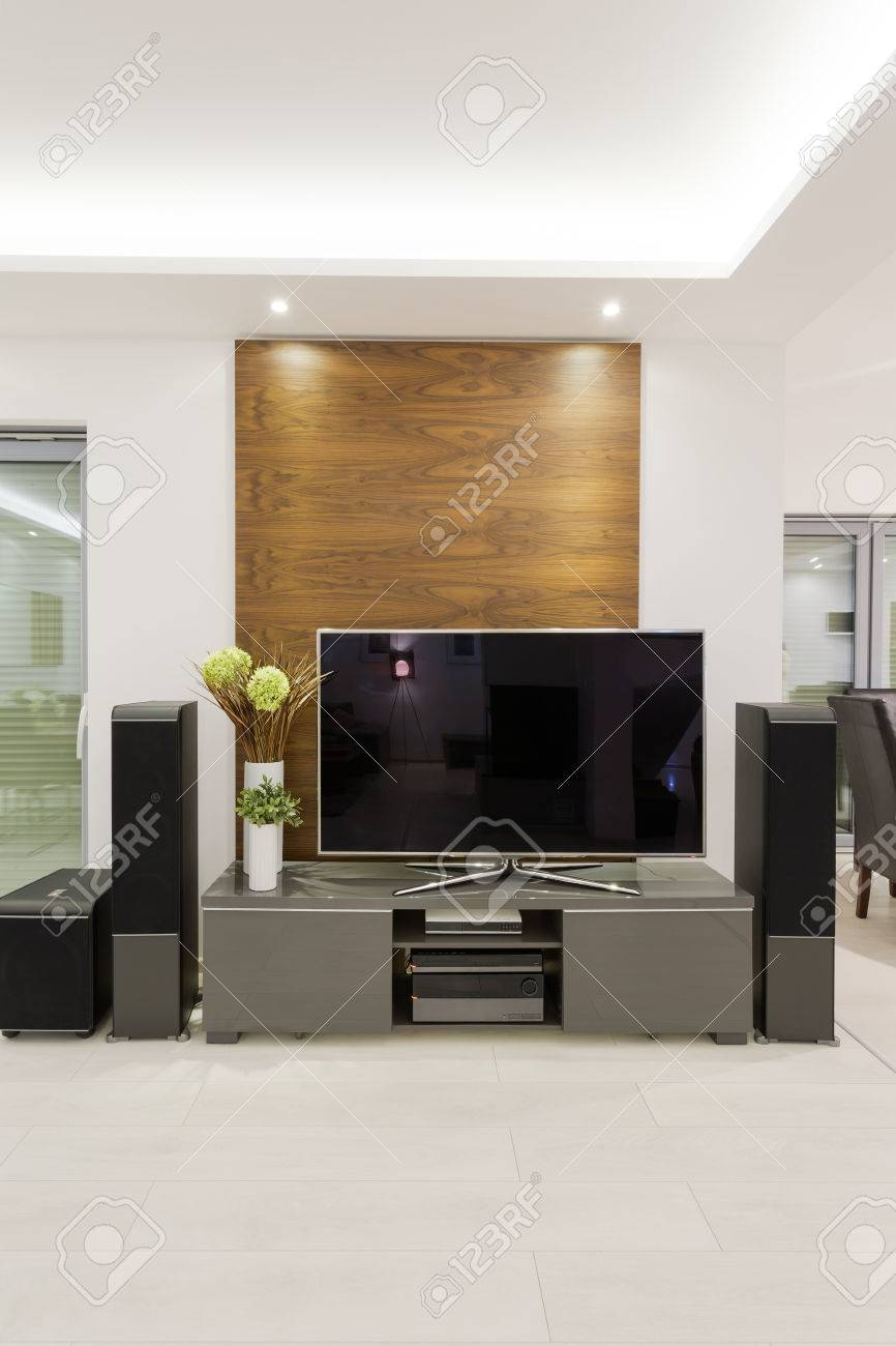 New Home Movie Theater In Modern Lounge Stock Photo Picture And Royalty Free Image Image 40108304