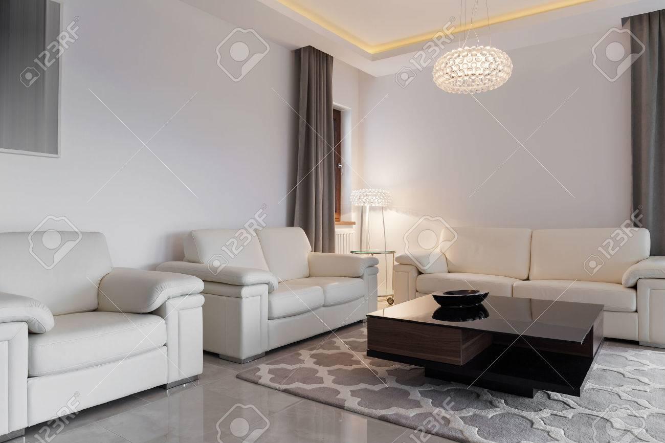 Moderne Gemütliche Familienzimmer Mit Drei Bequemen Sofas ...