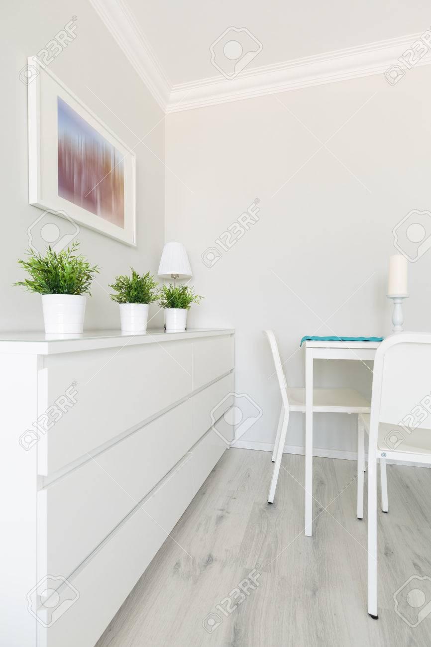 Muebles Blancos En Interior Moderno Sal N Fotos Retratos  # Muebles Blancos