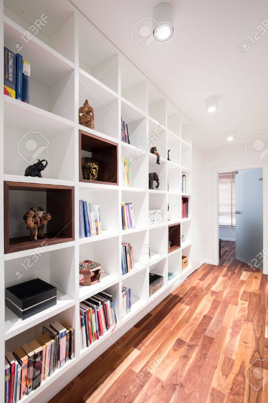 Admirable White Book Shelf In Office With Wooden Floor Download Free Architecture Designs Rallybritishbridgeorg