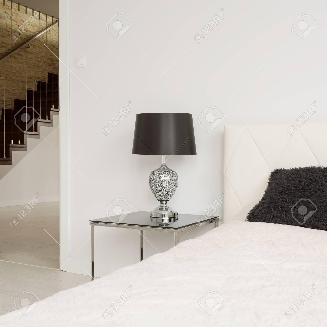 Weiss Eingangstur Zum Einfachen Exklusive Schlafzimmer Lizenzfreie