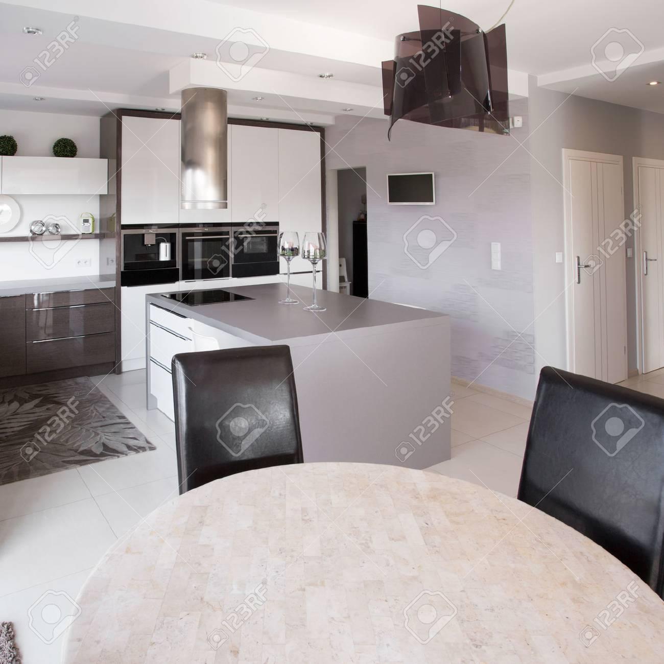 Cuadro de muebles modernos de cocina de diseño