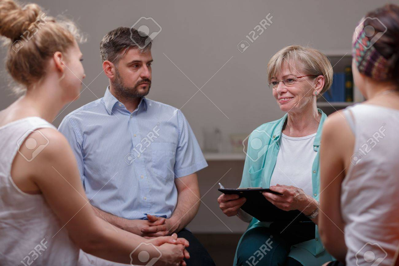 Meeting of support group in psychotherapist's room - 46269562
