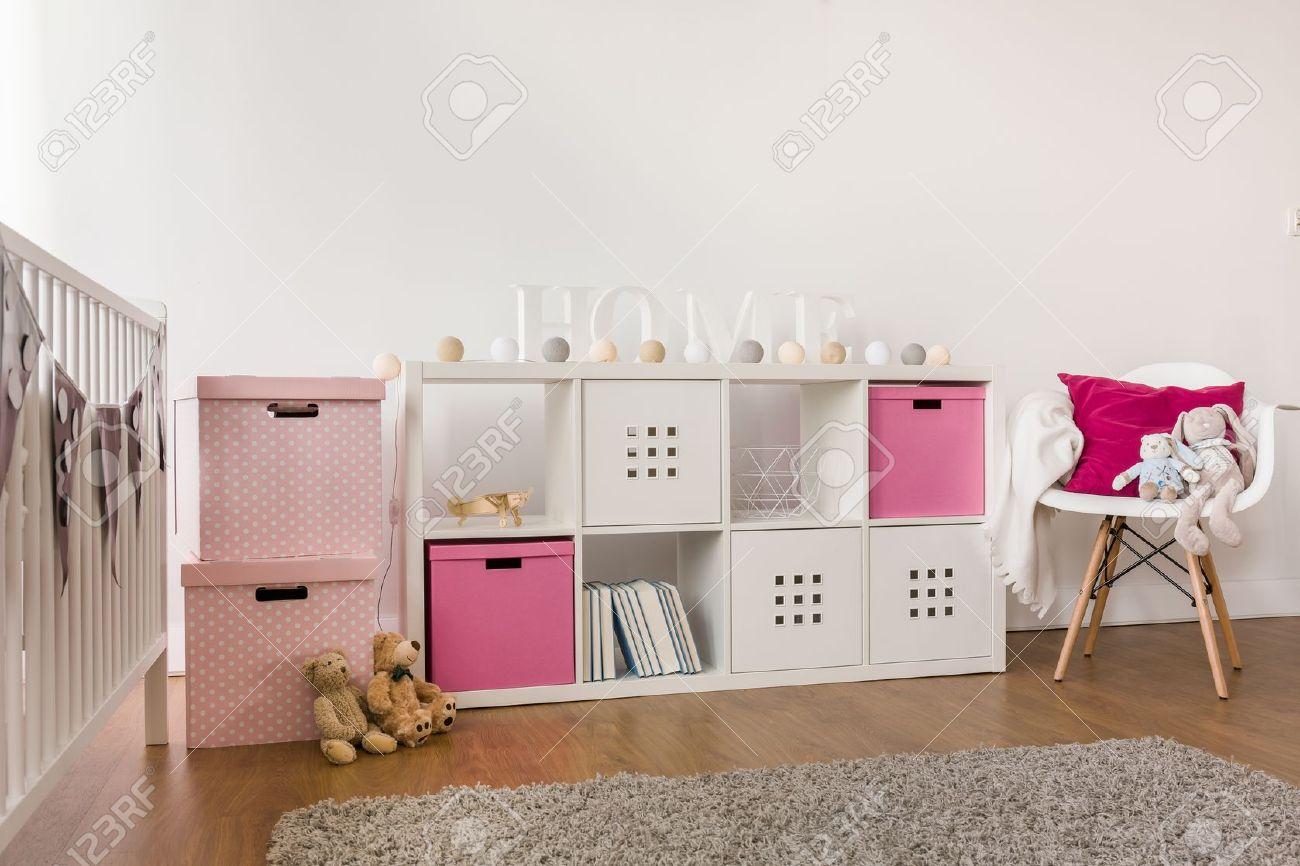 Imagen De Muebles De Almacenamiento Moderna Niños En La Habitación ...