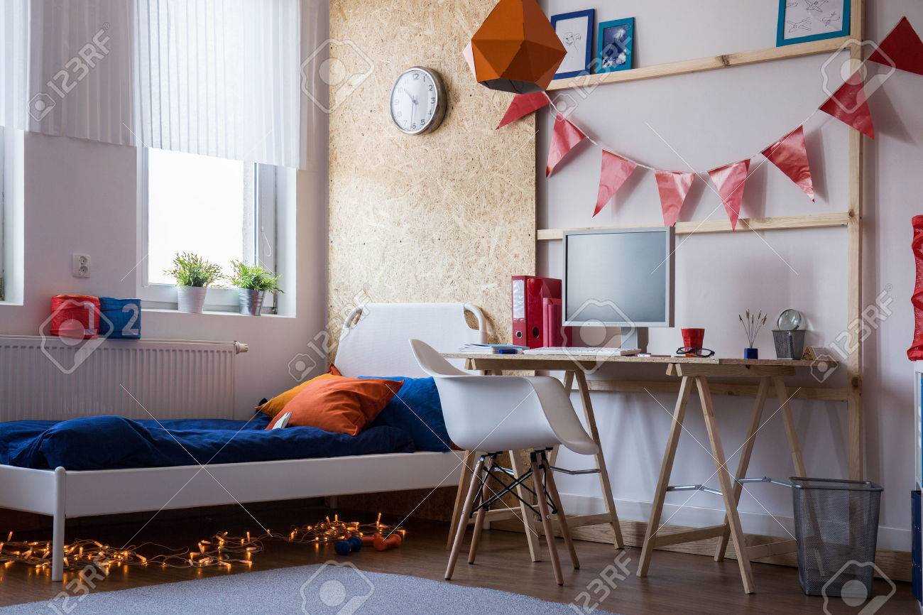 Chambre Moderne Adolescent Garçon Ou Une Fille Banque D\'Images Et ...