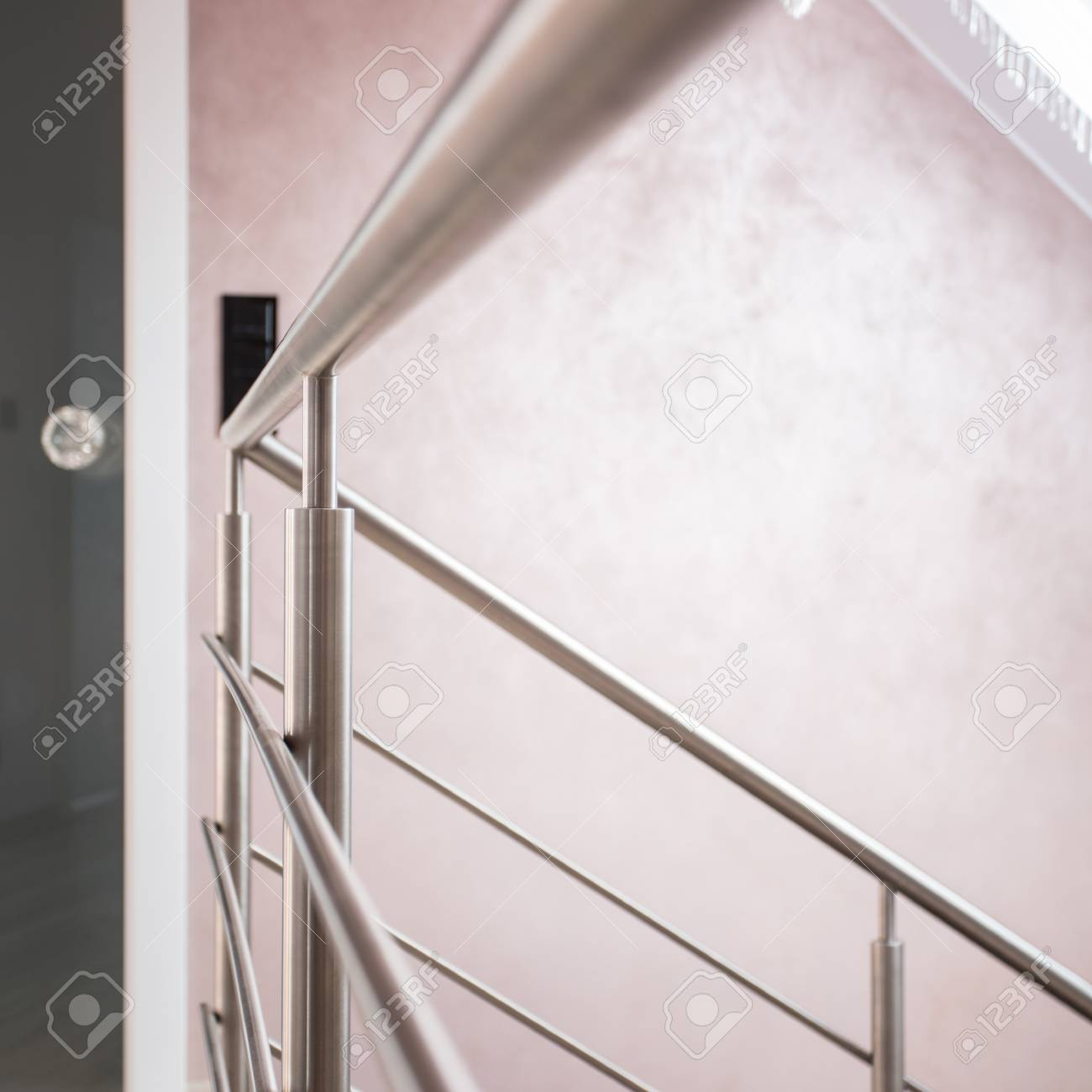 Close up of silver railing and door with diamond handle Stock Photo - 48364816 & Close Up Of Silver Railing And Door With Diamond Handle Stock Photo ...