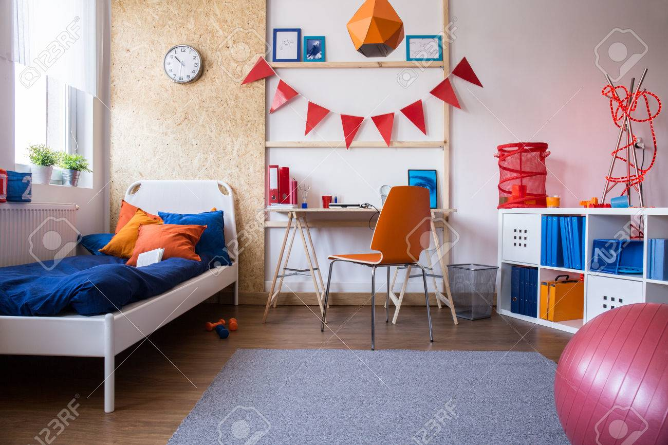 Image of new child bedroom and study room combination - 50497538