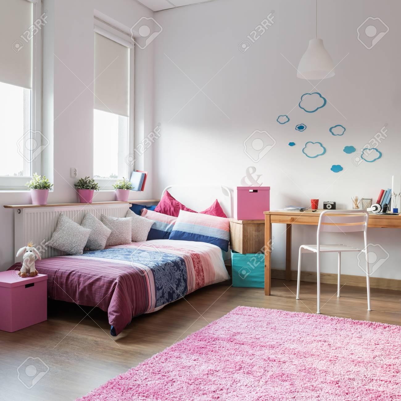 Modele Chambre Fille Ado ados chambre de jeune fille et de l'espace pour l'étude