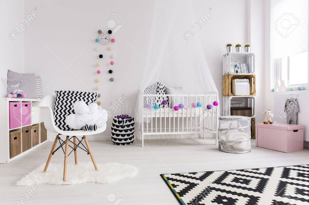 Shot Of A Creative Spacious Baby Room Stock Photo, Picture And ...
