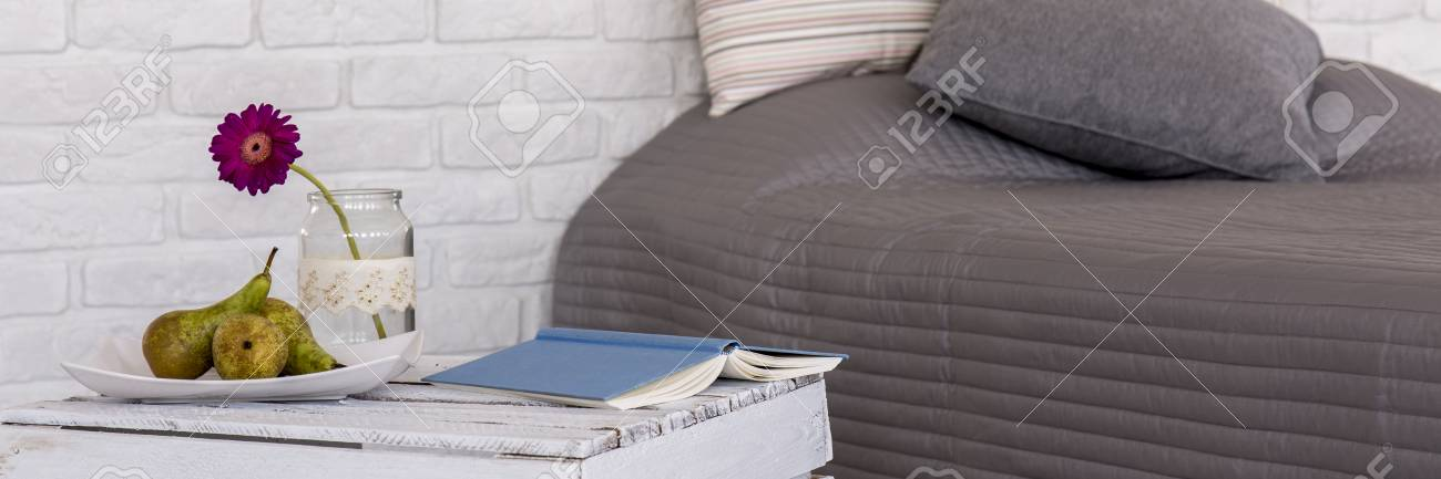 Panoramabild Schlafzimmer | Panorama Bild Von Einem Gemutlichen Modernen Schlafzimmer