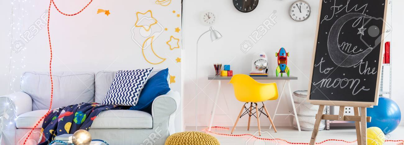 Crazy Teenager Room And Trendy Decoration Ideas Stock Photo   57245181