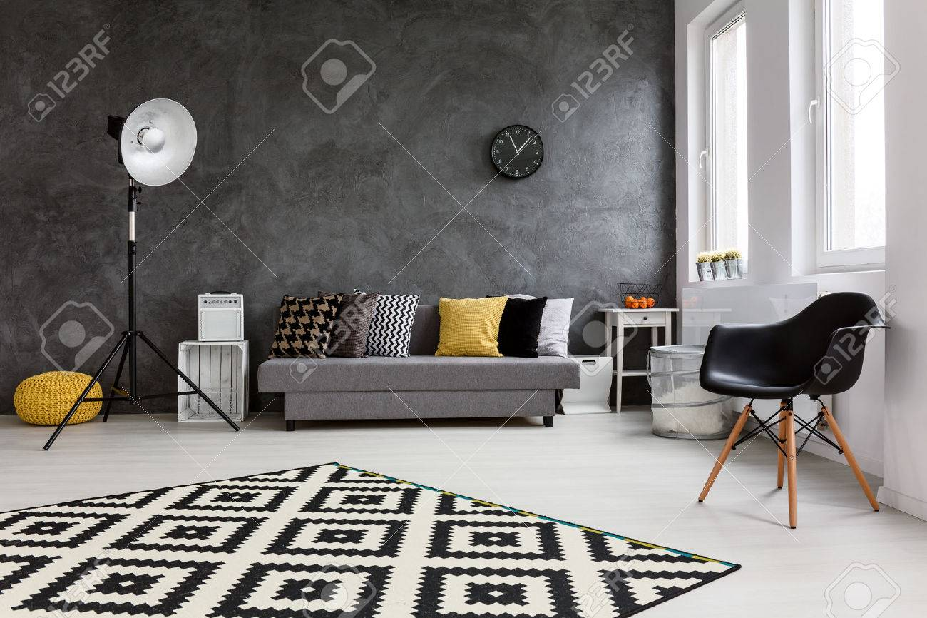 comfortable big living room living. Modern Living Room With Big Space In The Middle. By Wall Comfortable Grey Couch