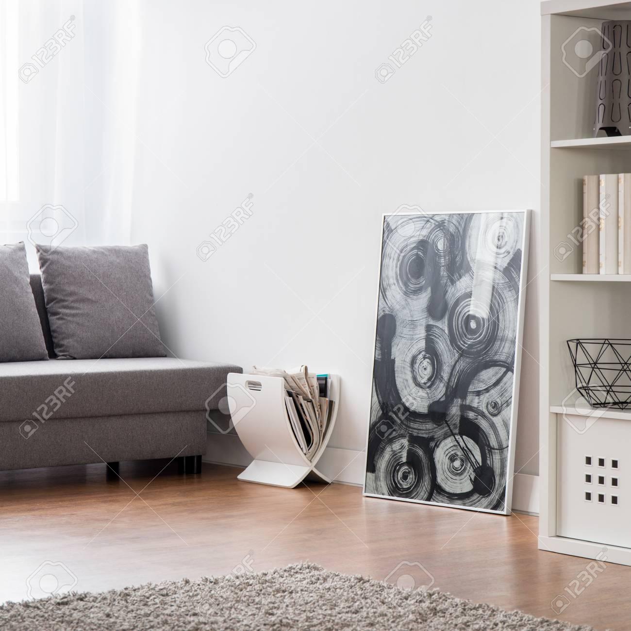 Elegant Moderne Bodenbeläge Galerie Von Zimmer Mit Teppichboden, Bodenbeläge, Sofa, Bücherregal Und