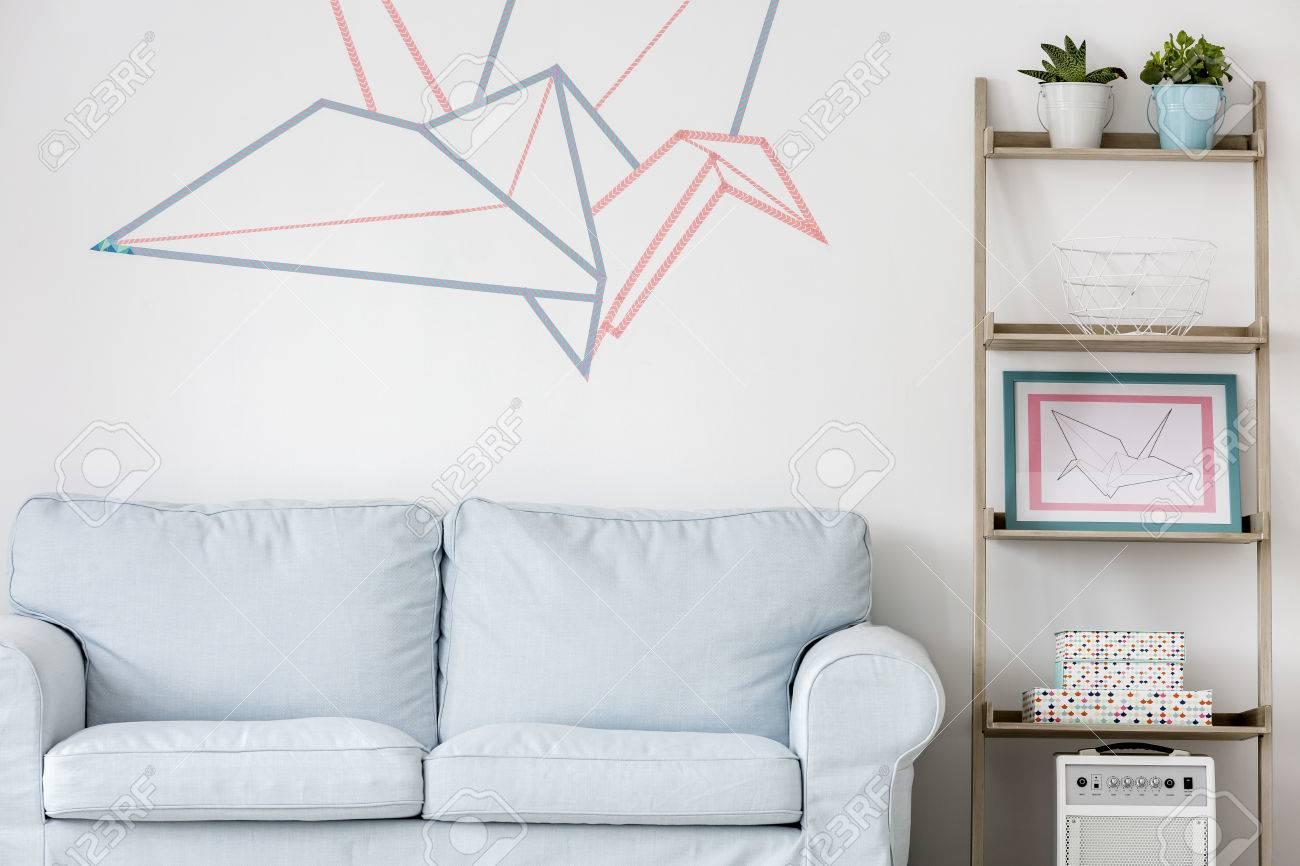 luce soggiorno con divano, regale fai da te e decorazione della ... - Decorare Soggiorno Fai Da Te 2