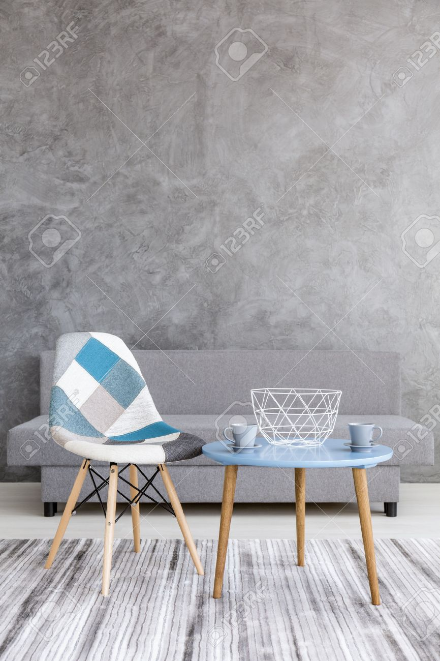 Wunderschön Sofa Patchwork Referenz Von Acsetic Style Living Room With Grey Cement