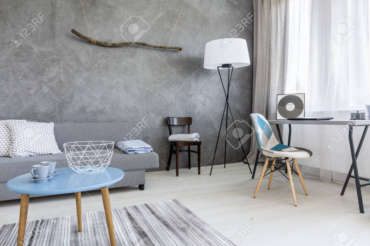 Surprising Grey Living Room In Minimalist Style With Sofa Small Table Gmtry Best Dining Table And Chair Ideas Images Gmtryco