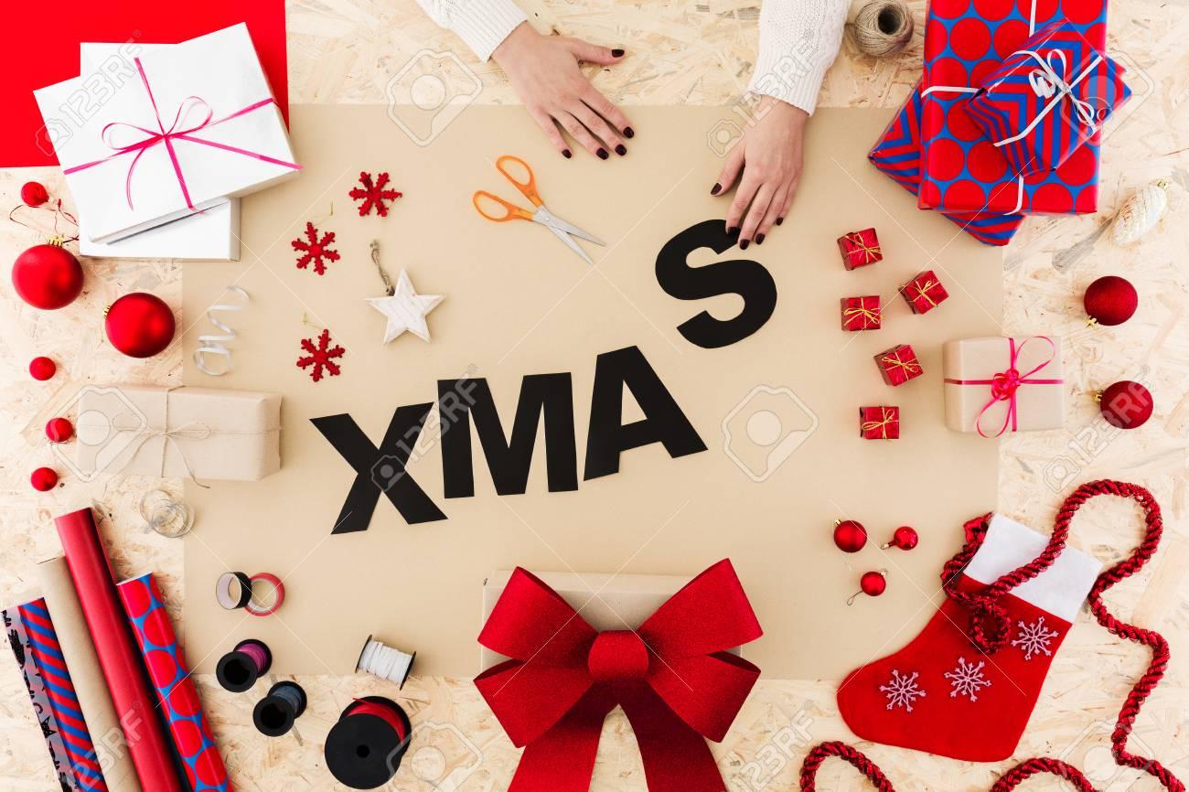 Schöne Geschenkideen Weihnachten.Stock Photo