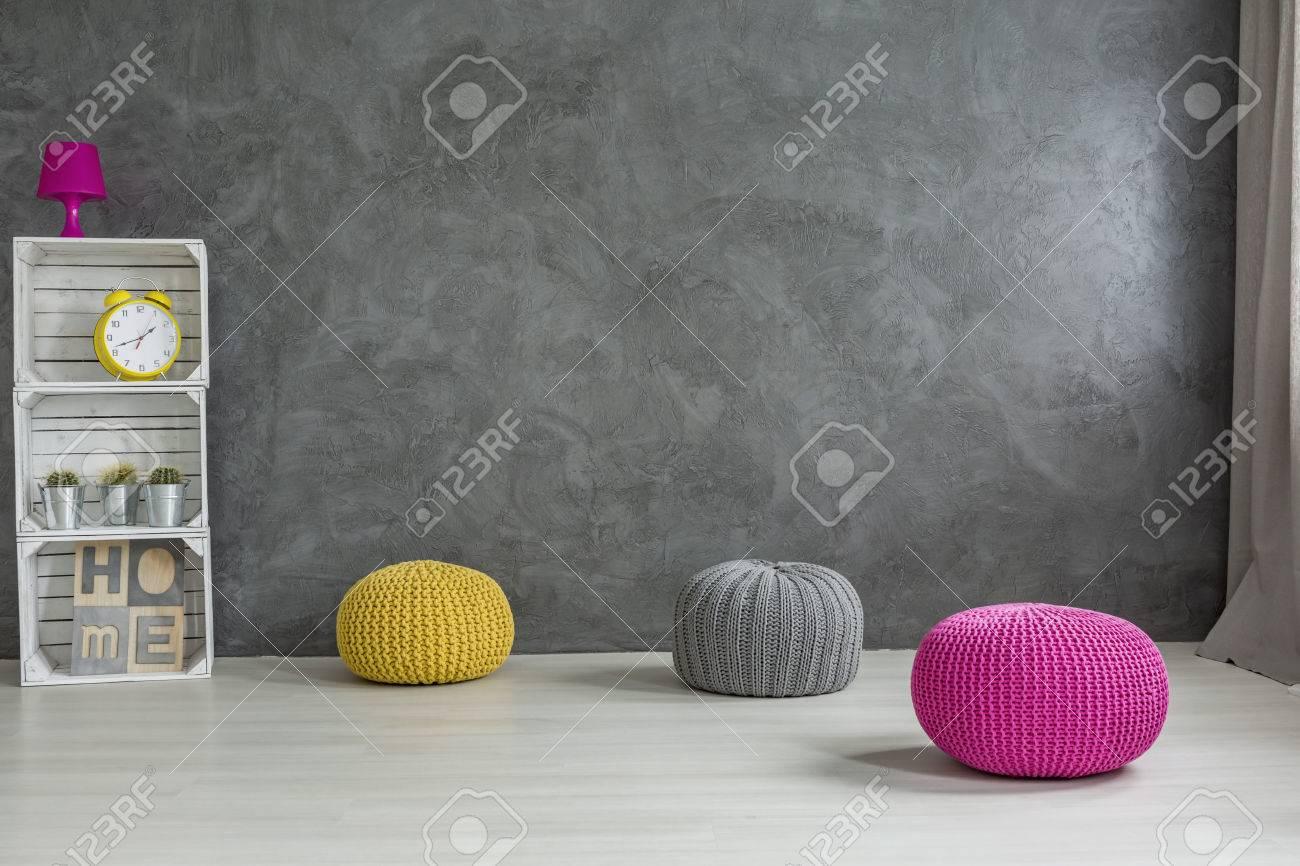 Idee Mobili Fai Da Te wool pouf e cassa rack fai da te idee mobili di tendenza