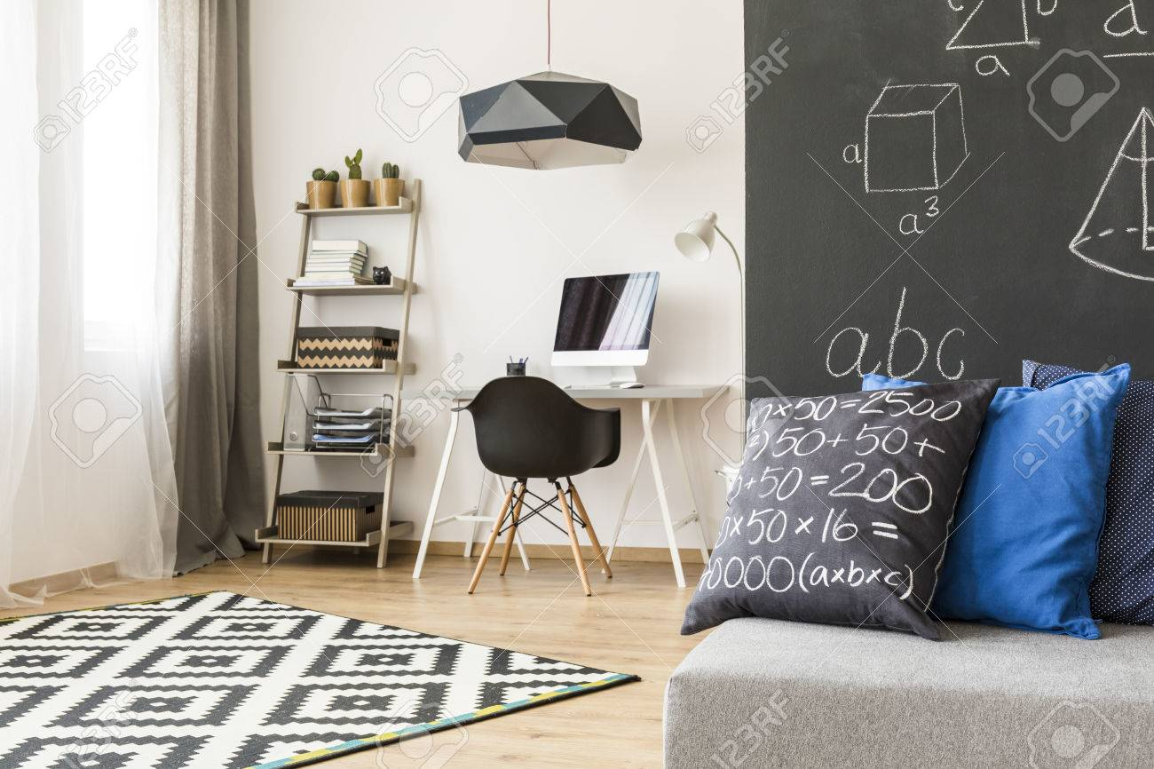 Monochromatic Room Designed For A Keen And Young Future