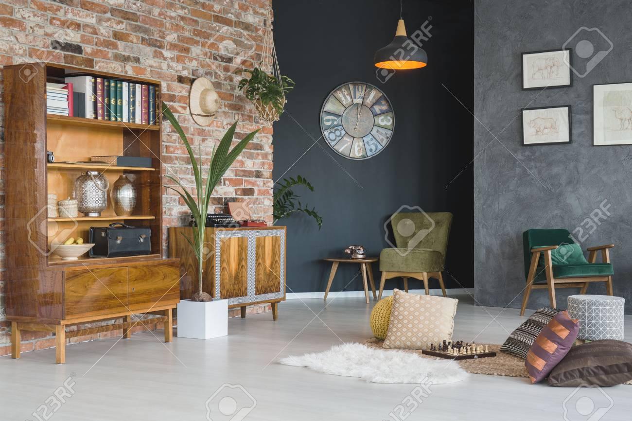 Salon Chaleureux Avec Mobilier Elegant Banque D Images Et Photos
