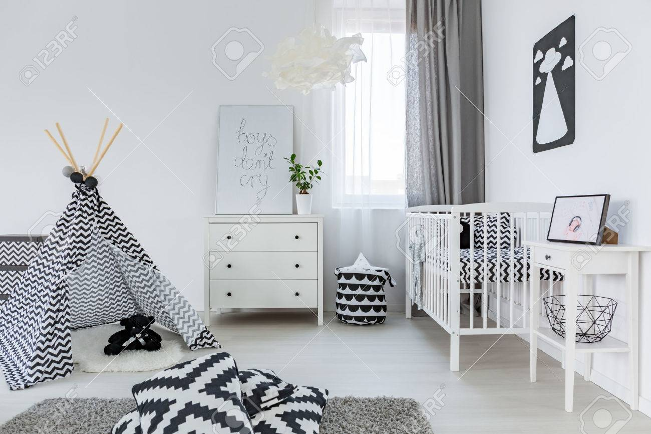 bright baby room in nordic style with tipi stock photo picture and rh 123rf com scandi style baby furniture scandi style baby gym