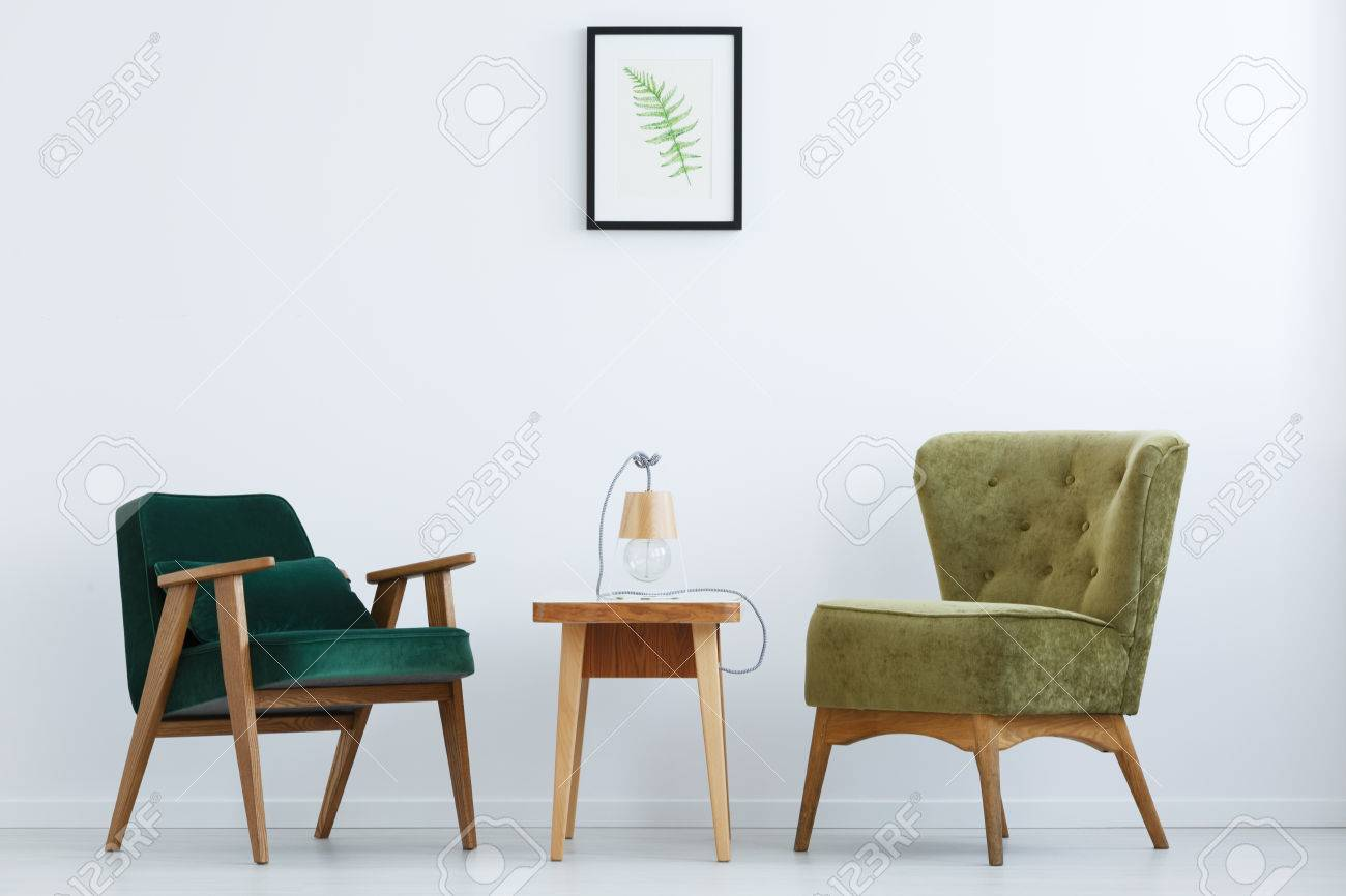 Ascetic white home interior with green chairs table and lamp ascetic white home interior with green chairs table and lamp stock photo 79794343 geotapseo Gallery