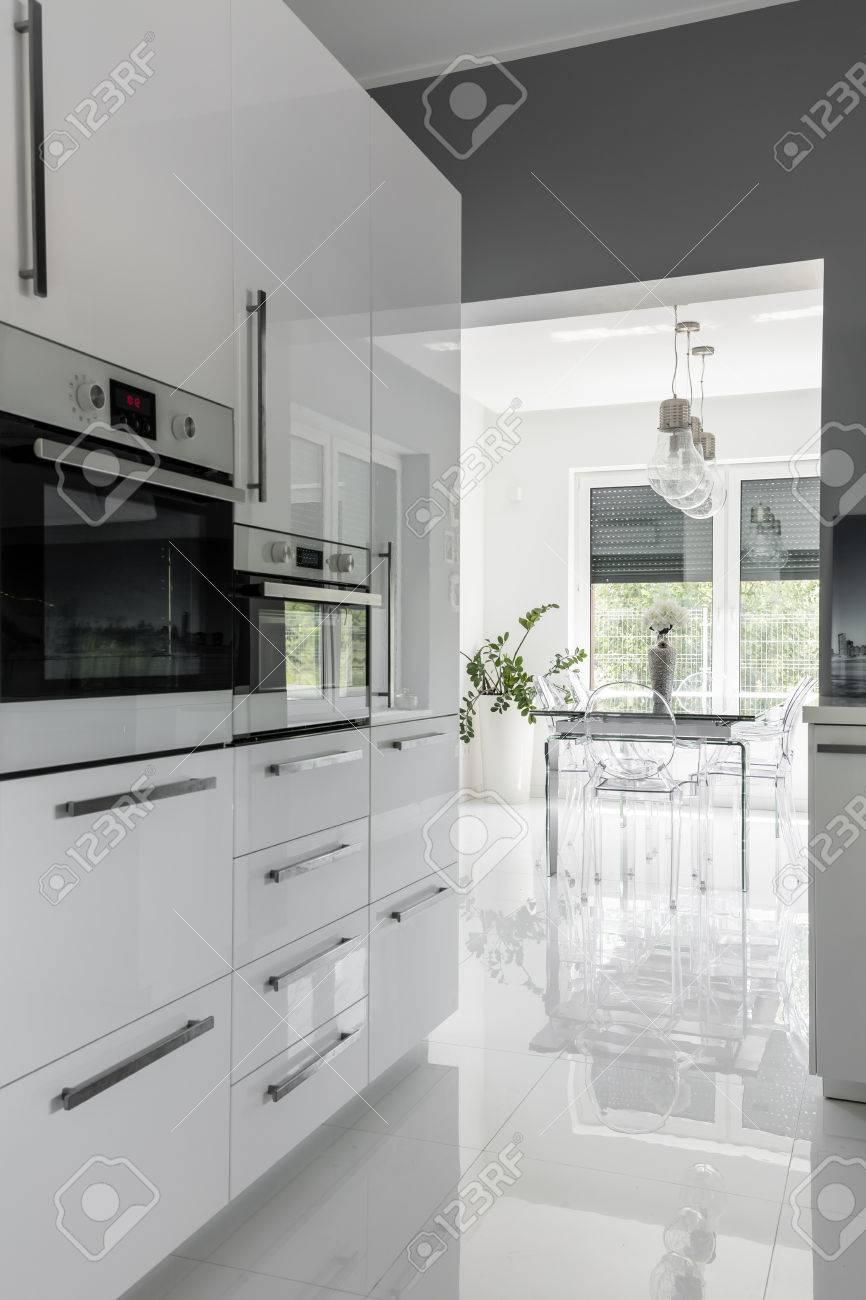 Nouvel Cuisine Propre équipée Moderne En Blanc Avec Haute Brillance WY-21