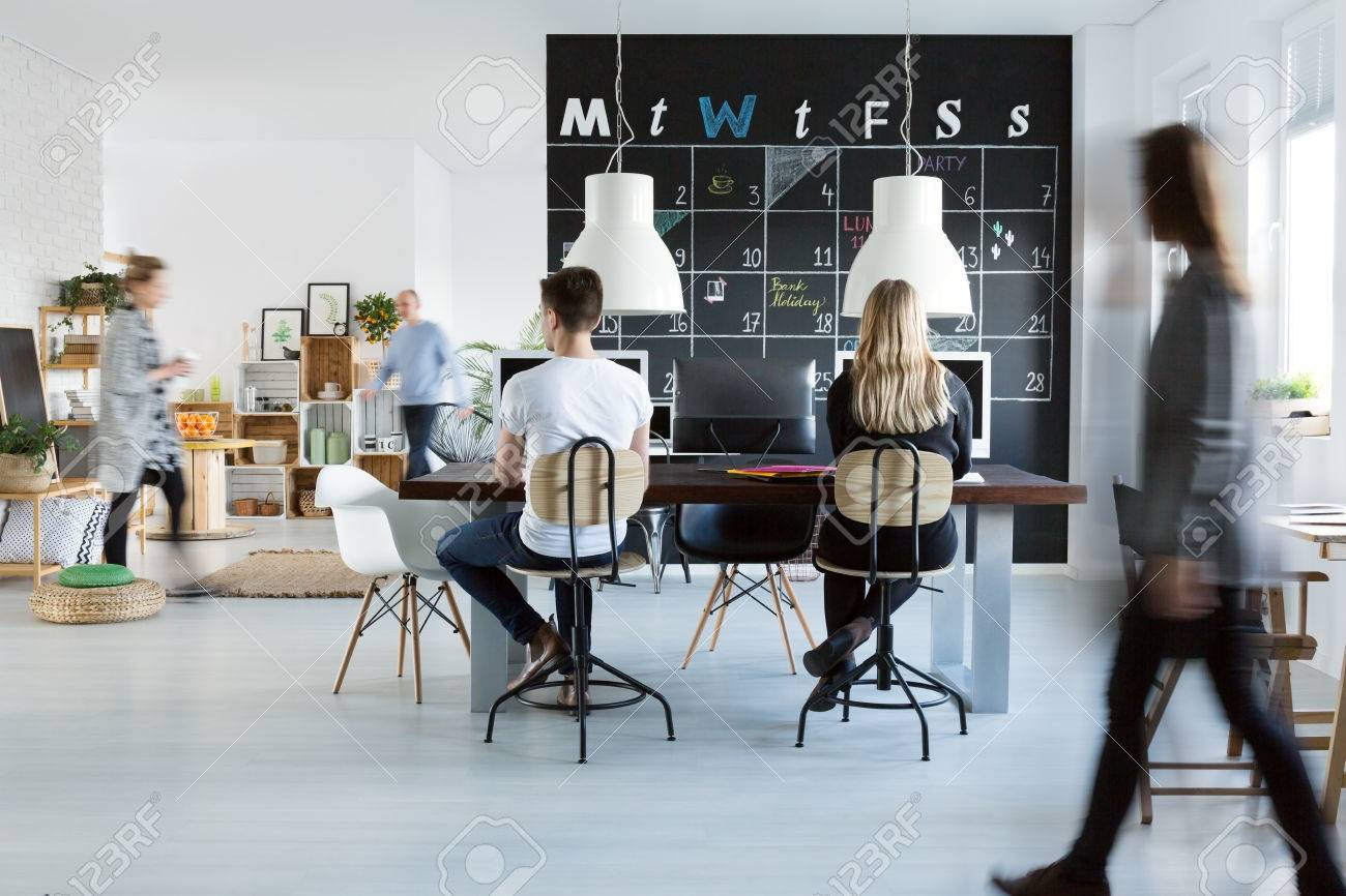trendy office. Fine Trendy Stock Photo  Young People Working In Trendy Friendly Office In Trendy Office O