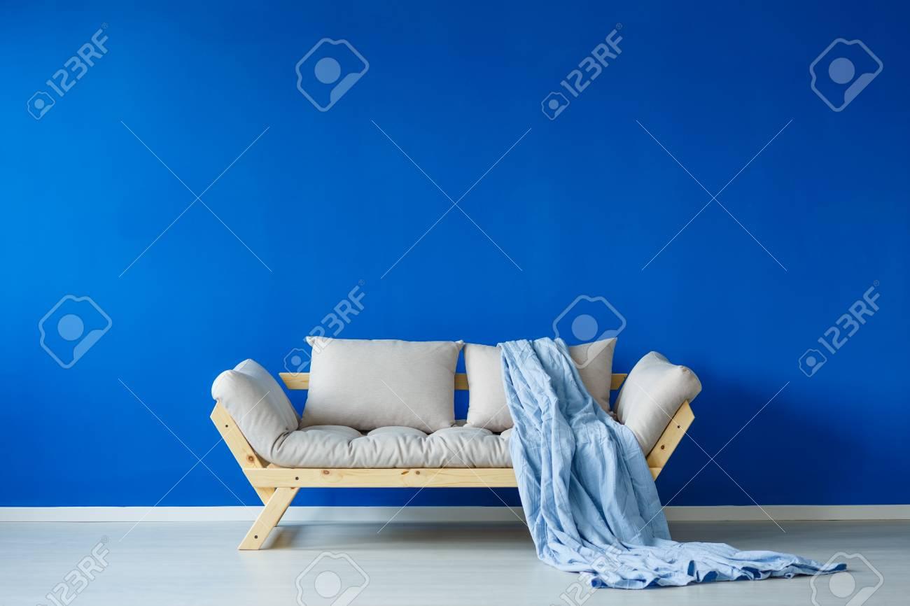 Excellent Scandinavian Living Room With A Trendy Couch And A Blue Blanket Inzonedesignstudio Interior Chair Design Inzonedesignstudiocom