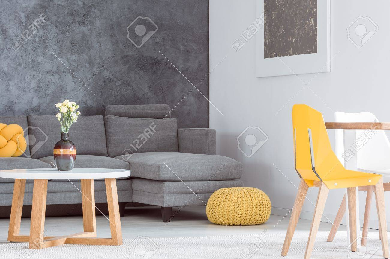 Picture of: Decorative Vase With Flowers On Wooden Coffee Table In Living Stock Photo Picture And Royalty Free Image Image 84779093