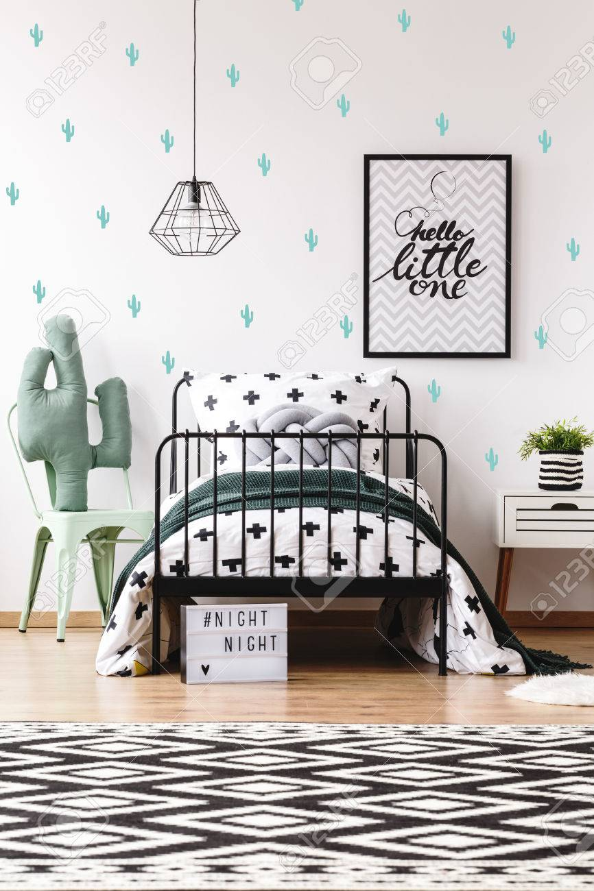 Awe Inspiring Cactus Toy On Chair Next To Bed In Scandinavian Style Kids Room Creativecarmelina Interior Chair Design Creativecarmelinacom
