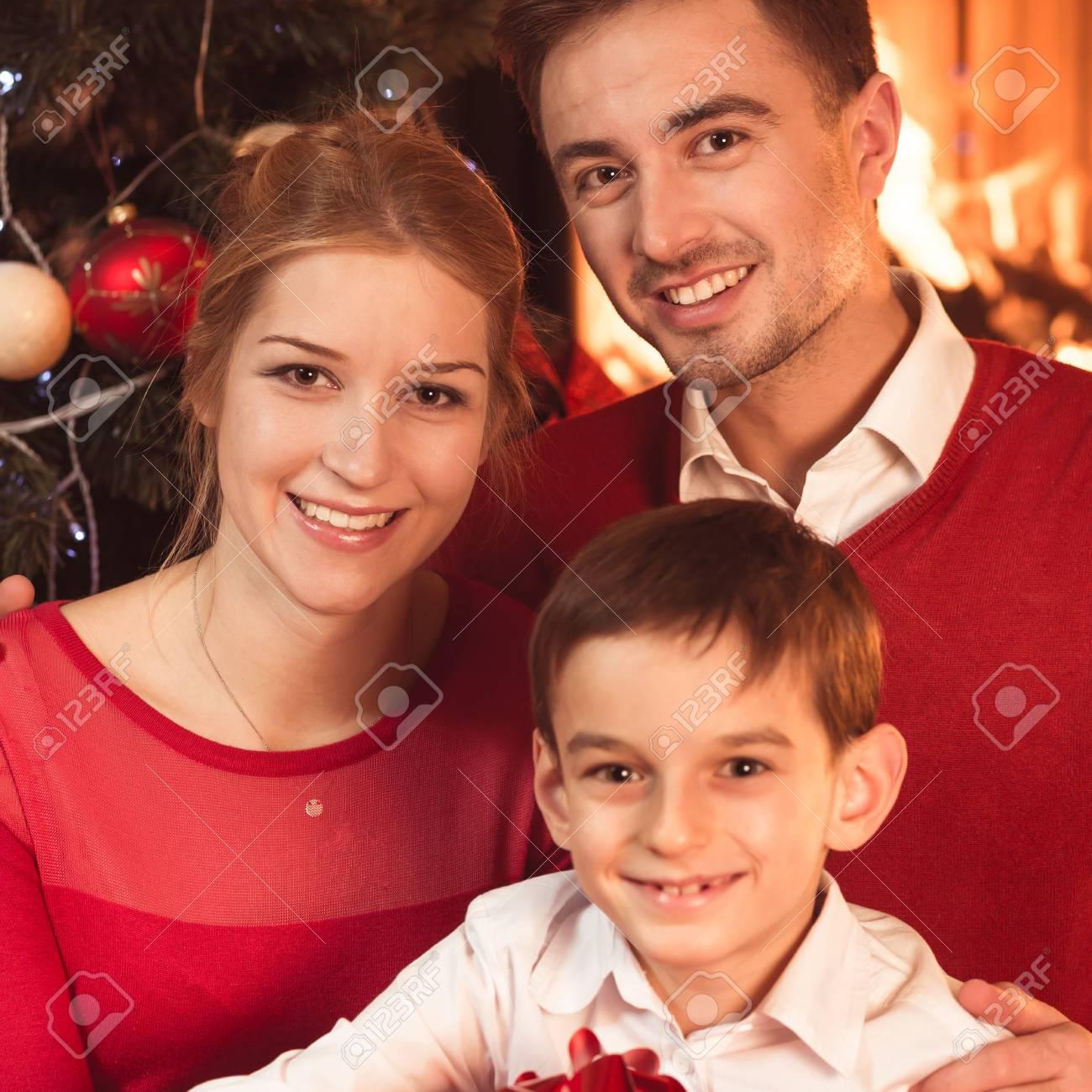 Geschenke Für Eltern Zu Weihnachten.Stock Photo