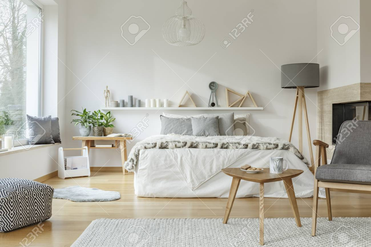 Peachy Cozy Hotel Room Interior With King Size Bed Chair Table Lamp Caraccident5 Cool Chair Designs And Ideas Caraccident5Info