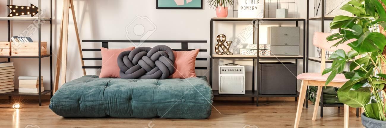 night sage fabric day queen and green mattresses mattress coil futon seaside microfiber pocket full xiorex futons for