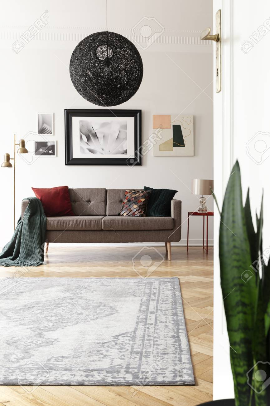 Low Angle View Of An Artistic Living Room Interior With A Large Stock Photo Picture And Royalty Free Image Image 108533458