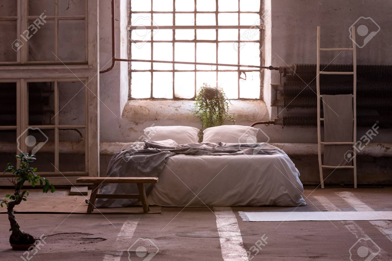 Bonsai And Bench In Japanese Bedroom Interior With Window Above Stock Photo Picture And Royalty Free Image Image 121764026