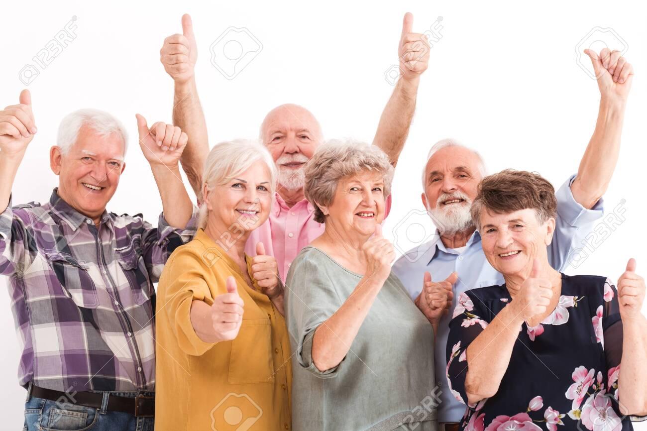 Senior people leading positive lifestyle - 129348471