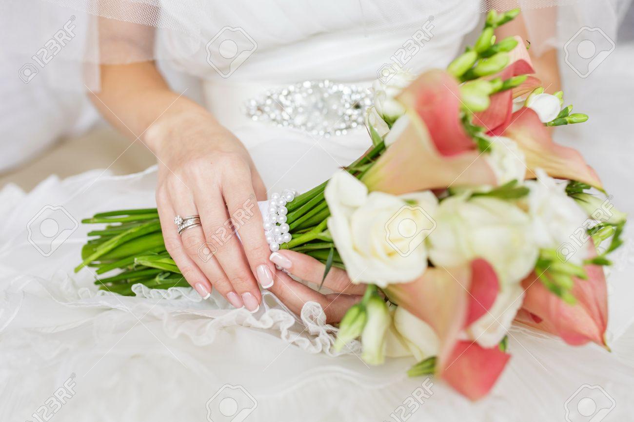 Schone Hochzeit Bouquet Von Rosen Vendella Calla Und Freesien