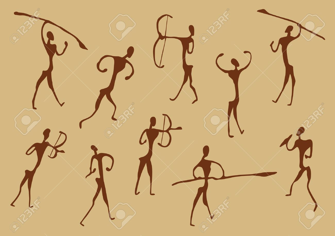 Ancient Arrow Drawing Cave Drawings of Ancient