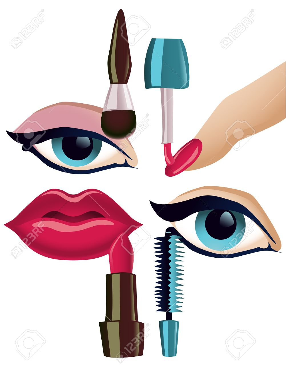 Make up items pictures