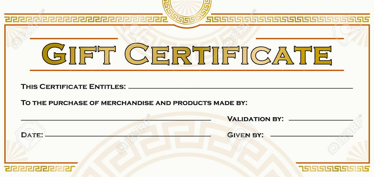 Gift certificate template royalty free cliparts vectors and stock gift certificate template stock vector 23296472 yadclub Gallery