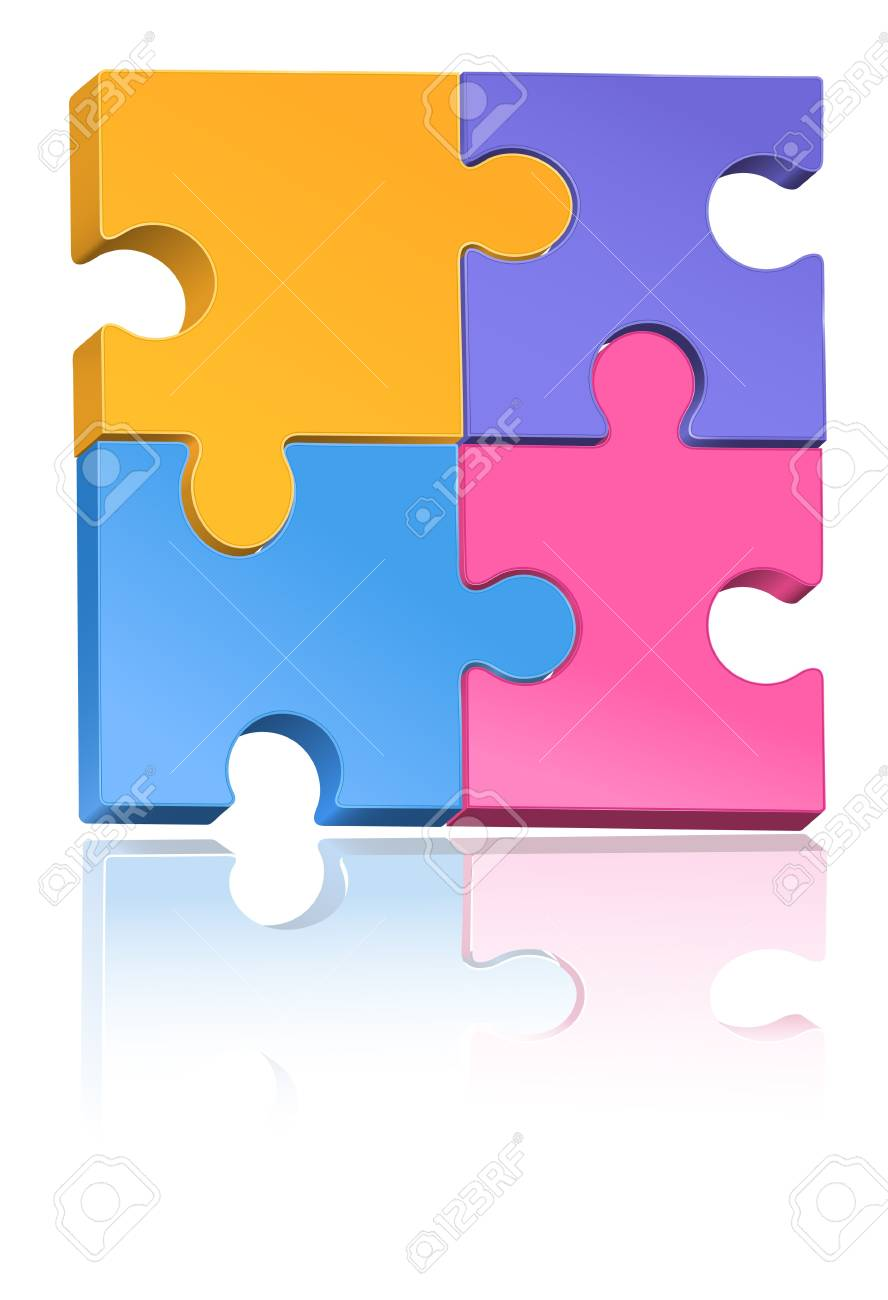 Colorful Jigsaw Puzzle Stock Vector - 12497382