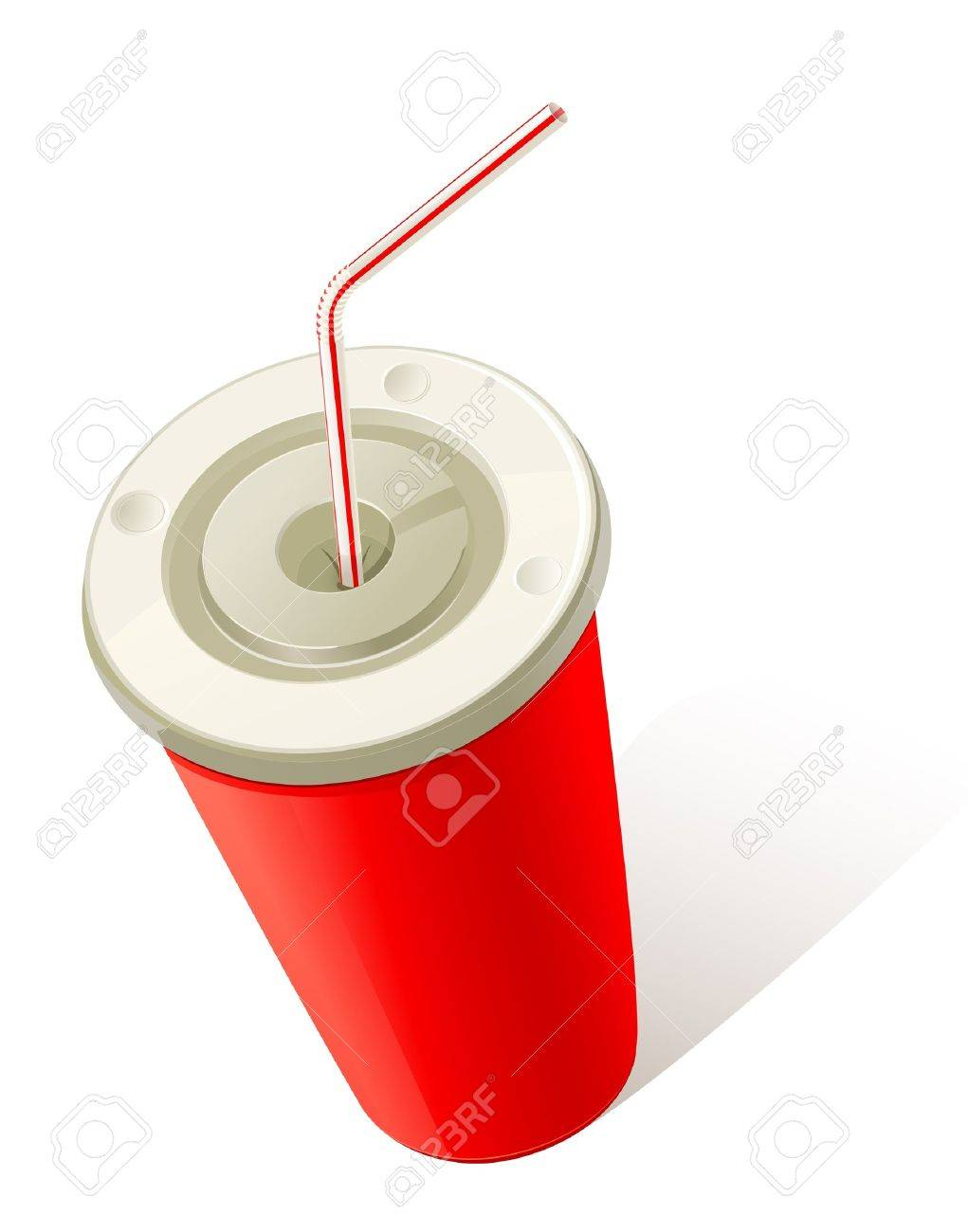 Red Cold Drink Cup Stock Vector - 12826767