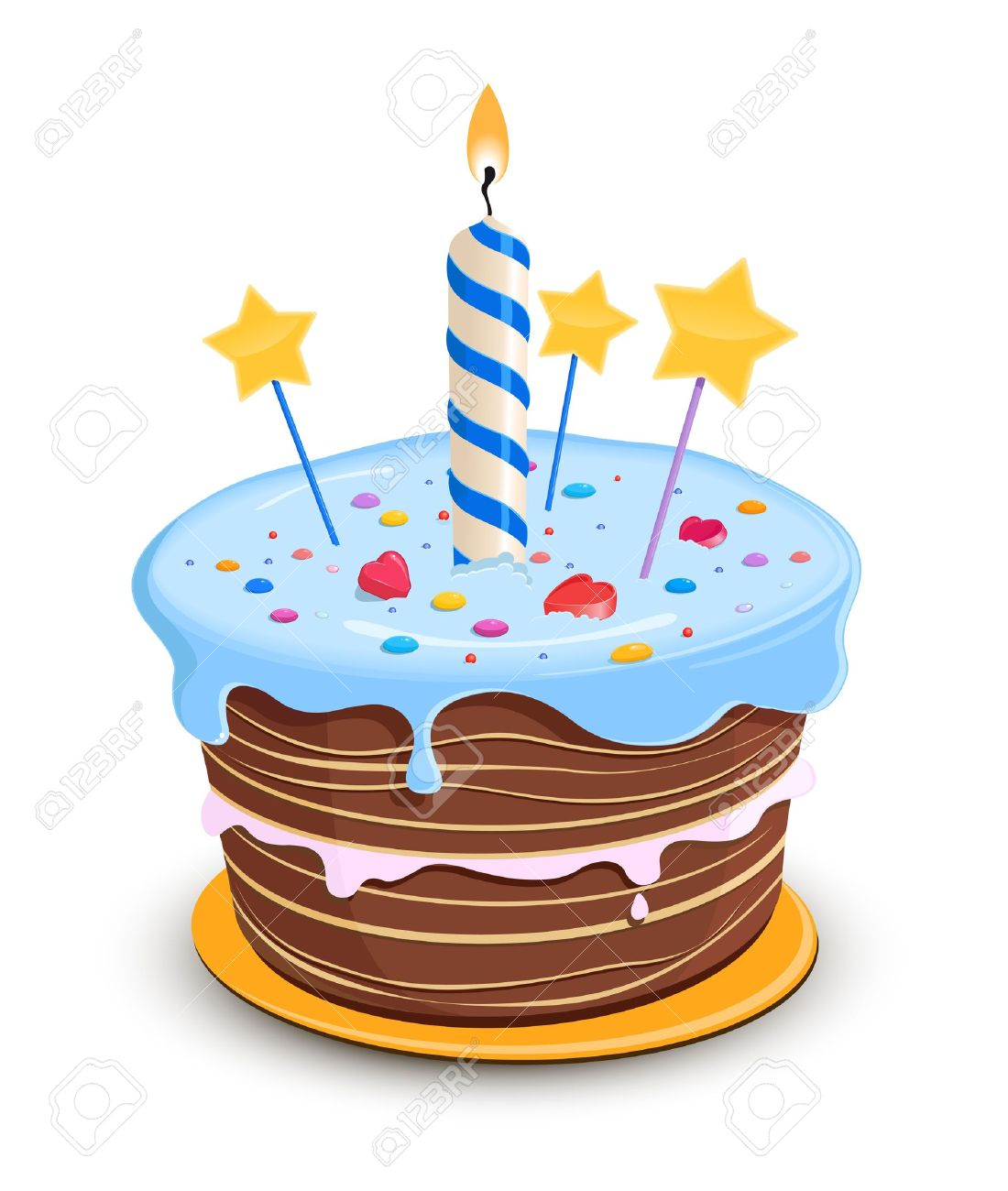 Birthday Cake Royalty Free Cliparts Vectors And Stock - Cartoon birthday cake images