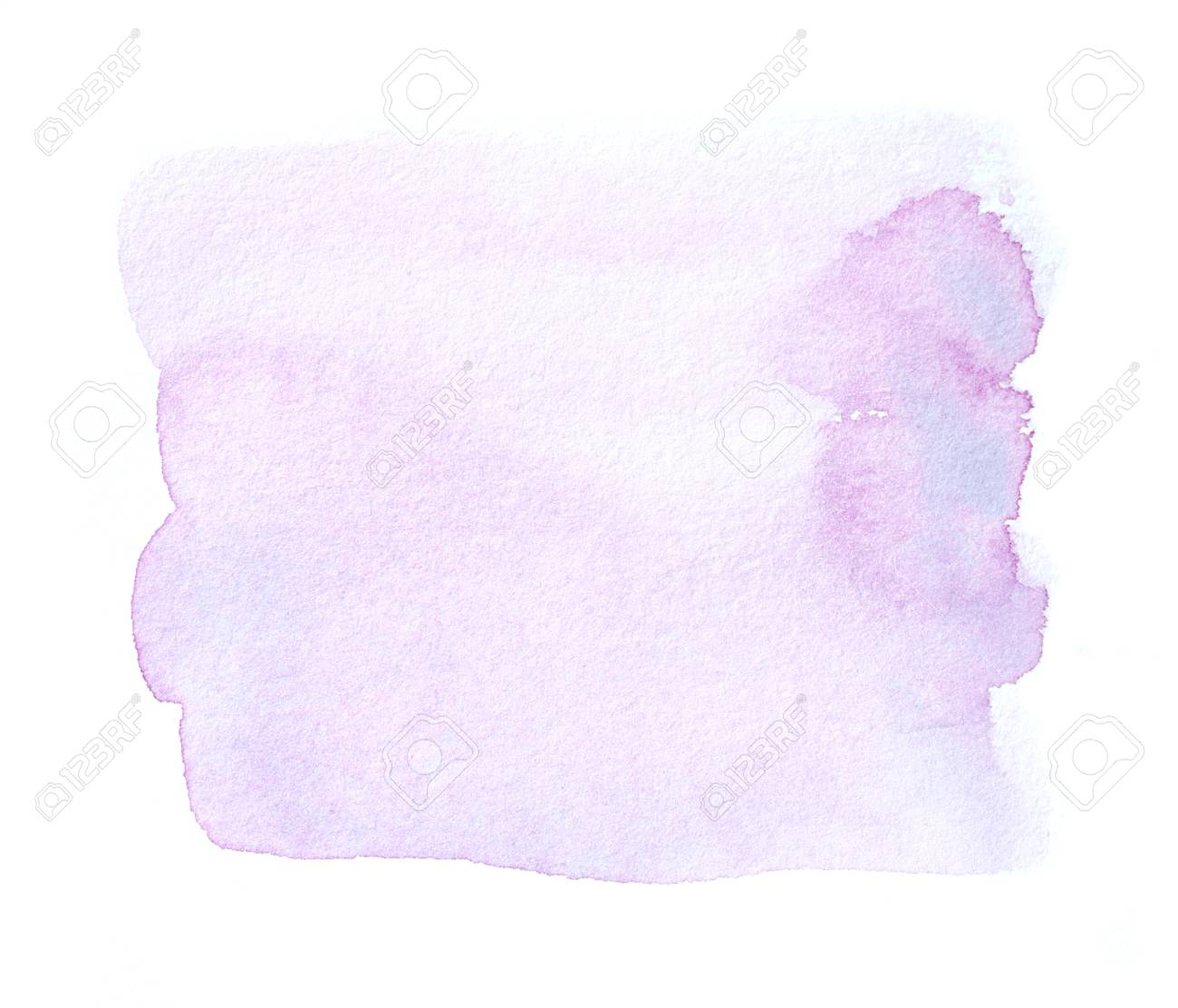 Abstract Soft Purple Watercolor Splash Isolated On White Background