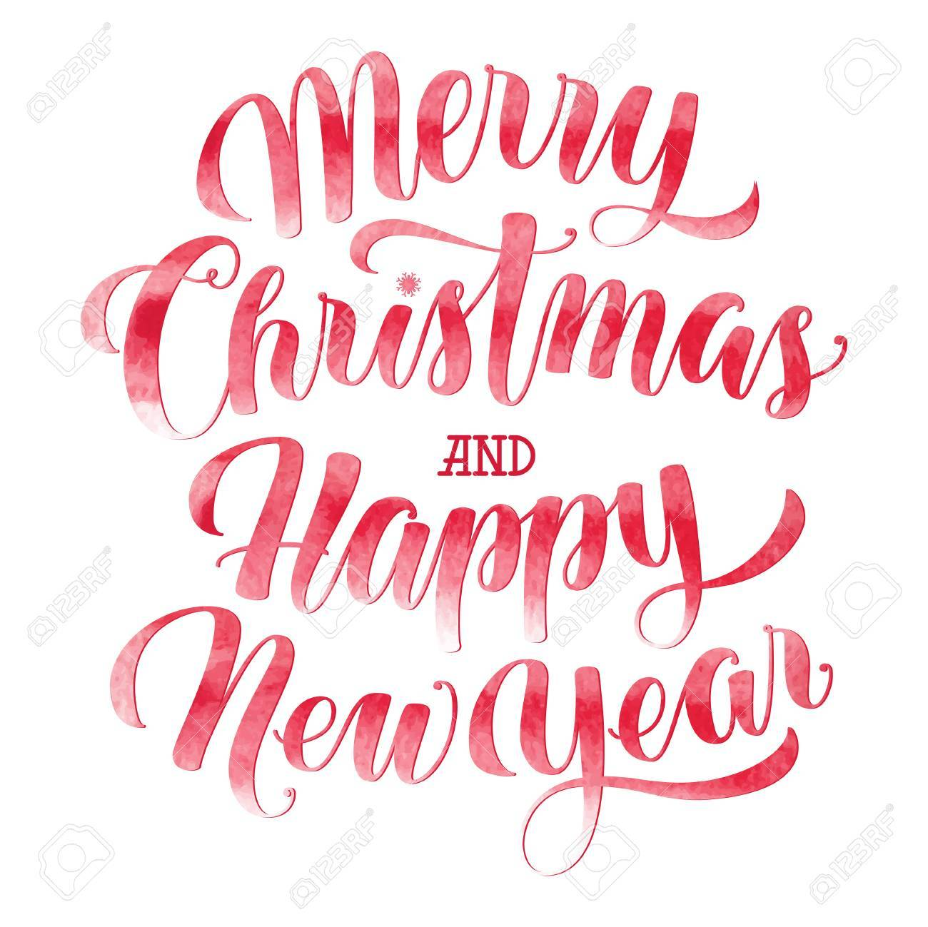 watercolor merry christmas and happy new year text calligraphic royalty free cliparts vectors and stock illustration image 67655952 watercolor merry christmas and happy new year text calligraphic