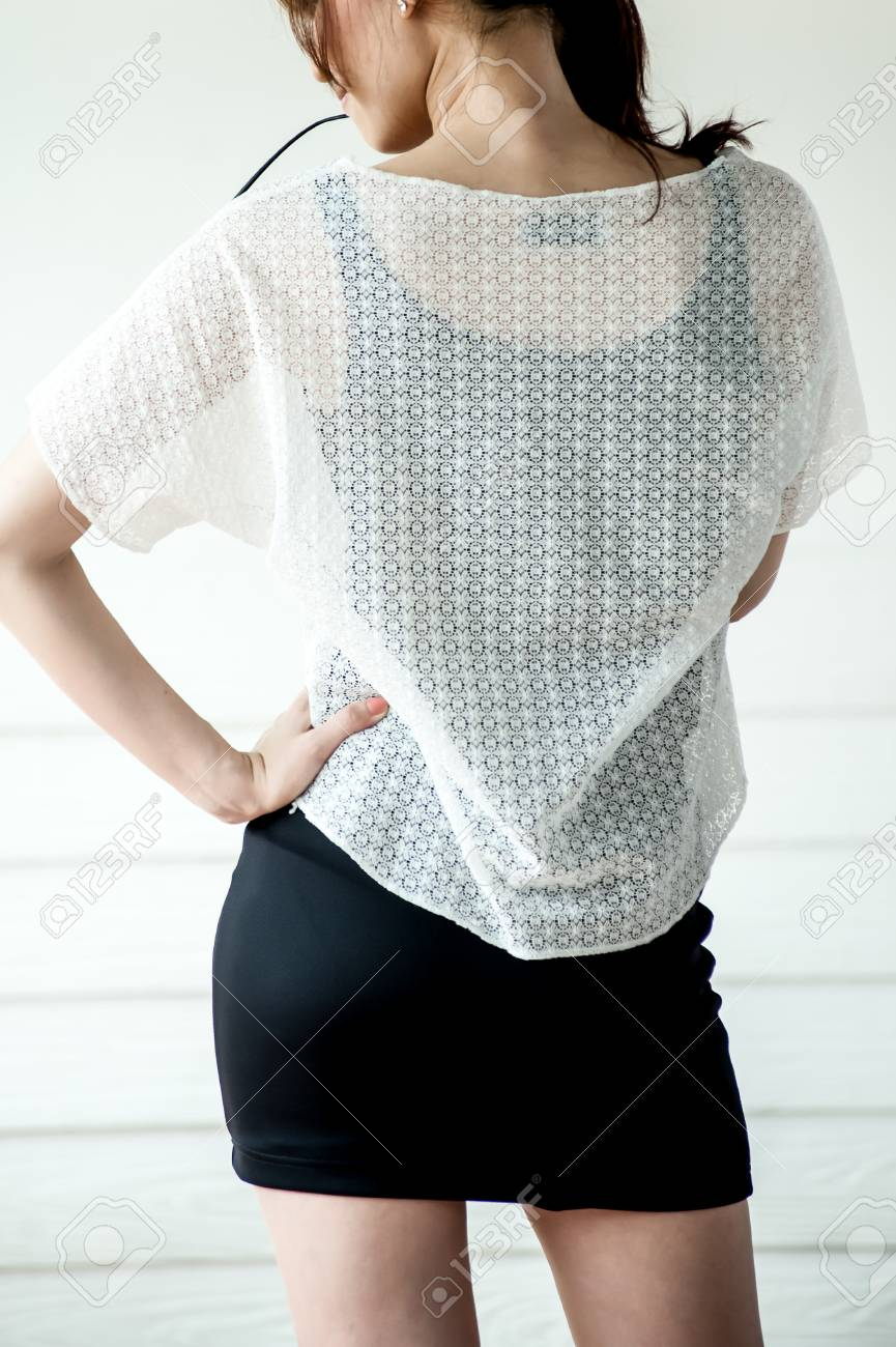 fccc9db2b4b02 Stock Photo - Young woman wearing blank sleeveless t-shirt
