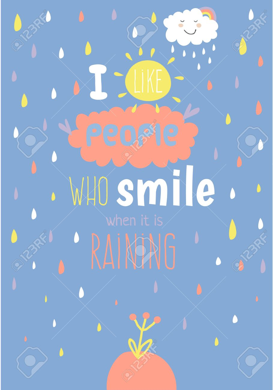 Greeting Card With Cute And Funny Vector Illustration Inspirational